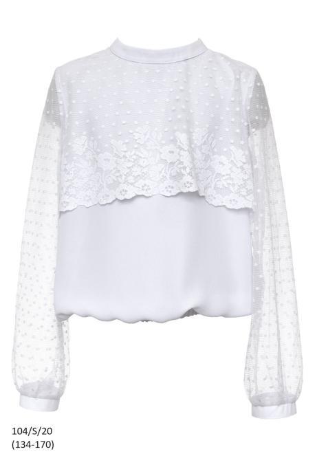 SLY  104/S/20 Блузка Белый оптом