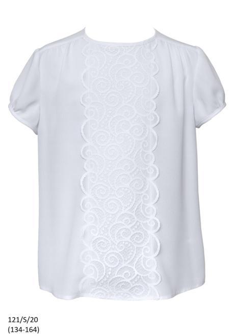 SLY  121/S/20 Блузка Белый оптом