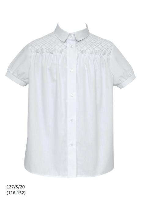 SLY  127/S/20 Блузка Белый оптом