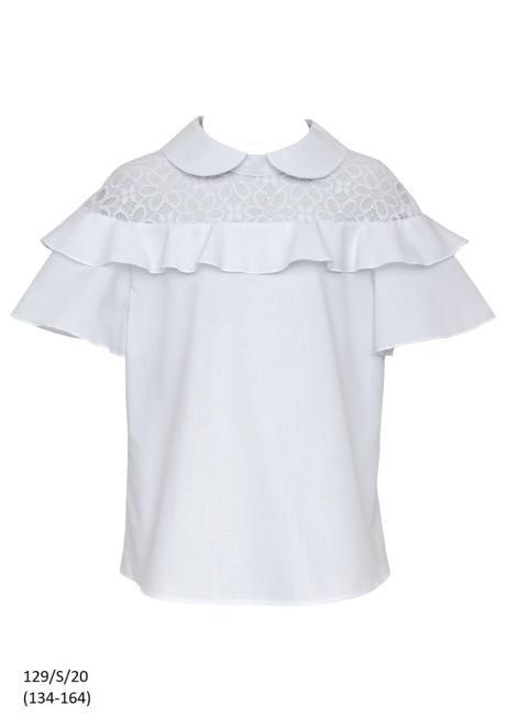 SLY  129/S/20 Блузка Белый оптом