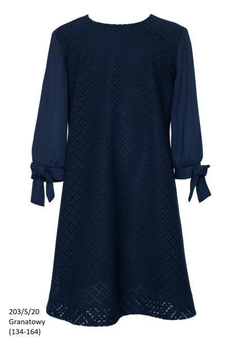 SLY  203/S/20 Платье Темно-синий оптом