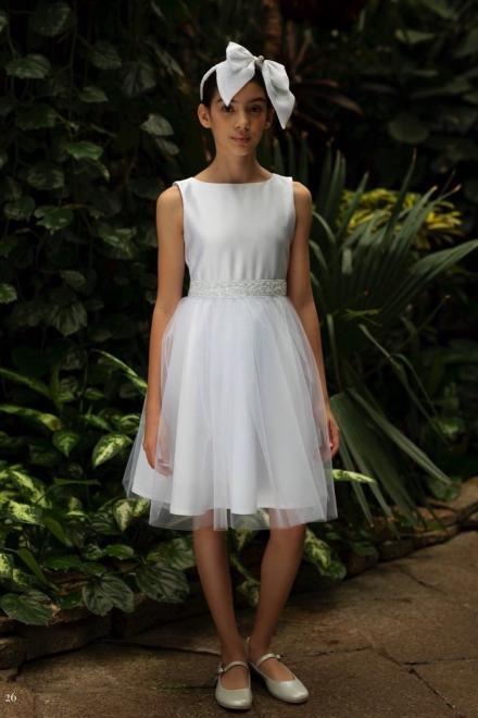 SLY  1SM-02 Платье Белый оптом