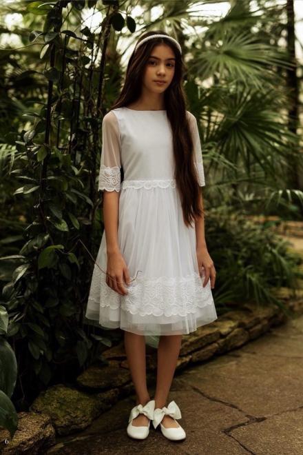 SLY  1SM-03A Платье Белый оптом