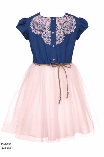 SLY  1SM-13B Платье Розовый оптом