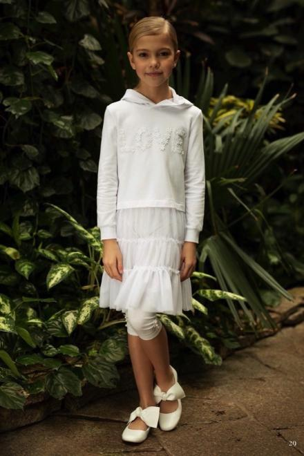 SLY  1SM-15A Платье Белый оптом