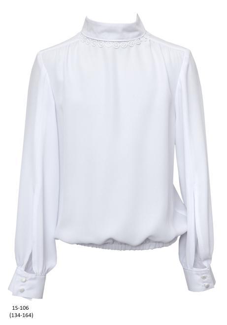 SLY  1S-106 Блузка Белый оптом