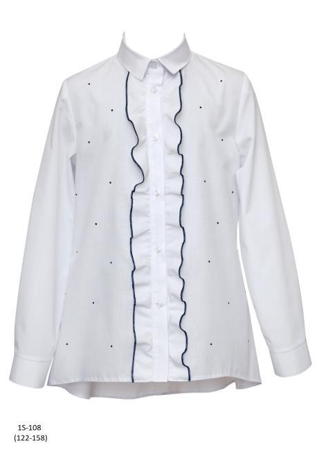 SLY  1S-108 Блузка Белый оптом
