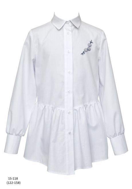 SLY  1S-118 Блузка Белый оптом