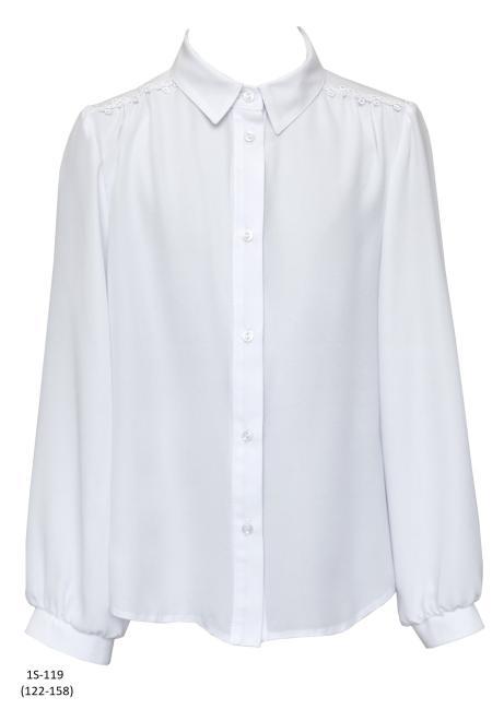 SLY  1S-119 Блузка Белый оптом