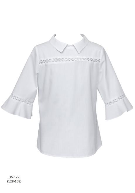 SLY  1S-122 Блузка Белый оптом