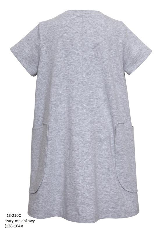 1S-210C Платье Серый