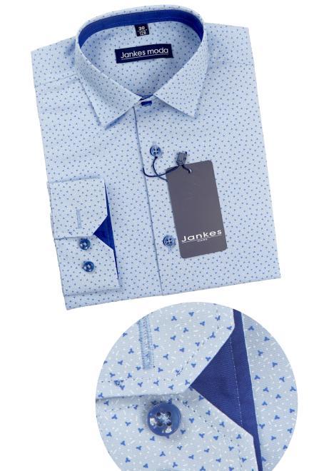 Jankes  06-03 Рубашка голубая-отд.шафир оптом