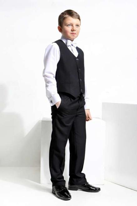 Jankes  03-00 Жилетка+брюки черный оптом