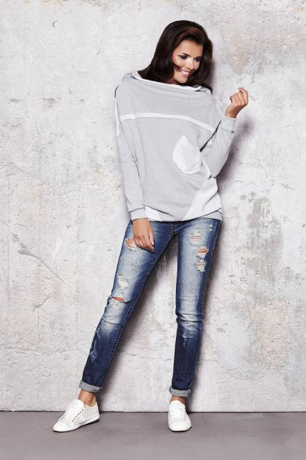 InfiniteYou  m016 Блуза Серый оптом