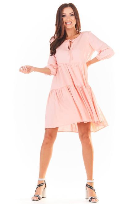 awama  A359 Платье Pudrowy różowy оптом