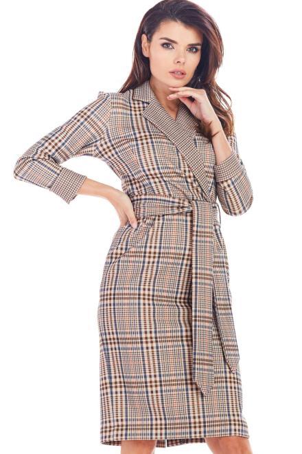 awama  A362 Платье Granat krata оптом