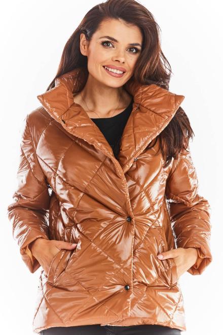 awama  A384 Куртка Beżowy-pikówka оптом