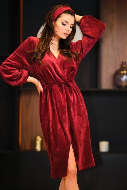 awama  A406 Платье beżowy-welur оптом