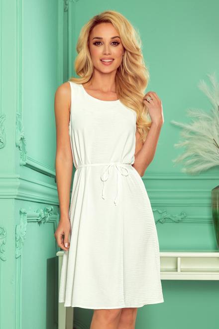Numoco  296-4 VICTORIA Trapezowa sukienka Платье kolor ECRU оптом