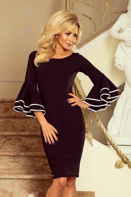 Numoco  188-2 CARMEN sukienka z hiszpańskimi rękawkami Платье czarna оптом