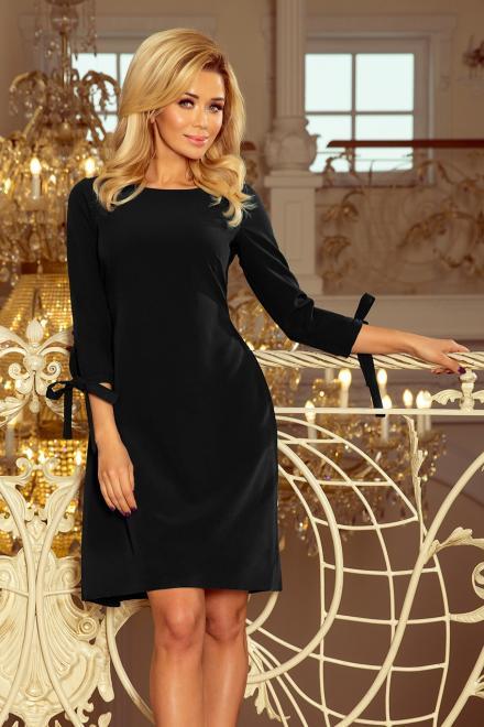 Numoco  195-8 ALICE Sukienka z kokardkami Платье czarna оптом