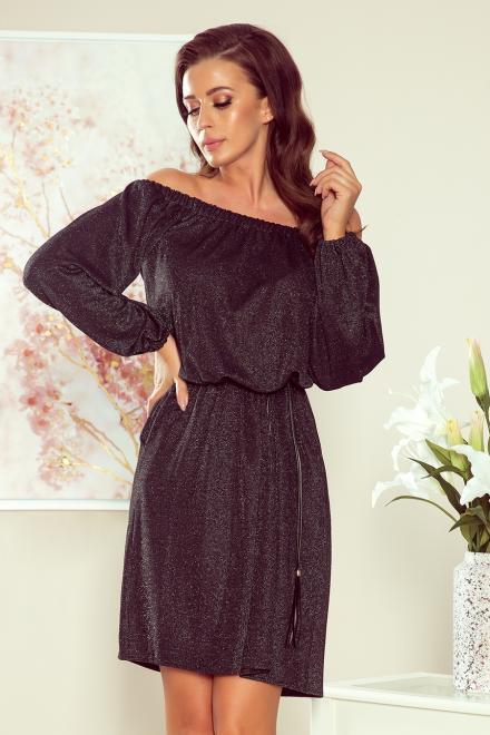 Numoco  270-2 DINA Sukienka z paskiem Платье czarna оптом