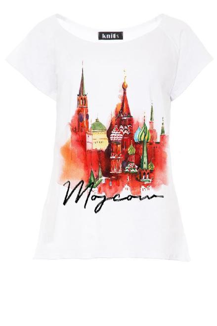 KNITIS  K455 Bluzka Moscov Белый оптом