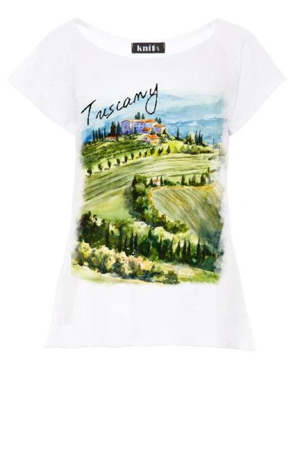 KNITIS  K458 Bluzka Tuscany Белый оптом