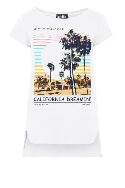 KNITIS  K461 Bluzka California Белый оптом