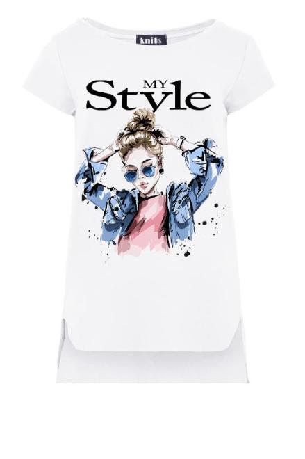 KNITIS  K465 Bluzka My Style Белый оптом
