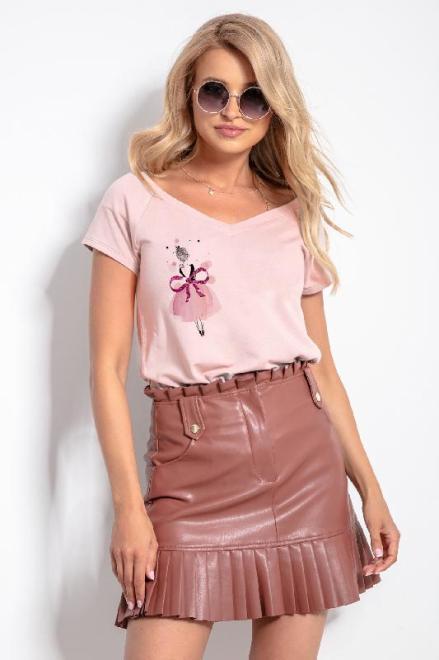 KNITIS  K624 Блузка Розовая пудра оптом