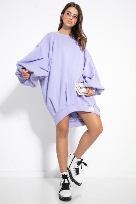 FOBYA  F1126 Платье Фиолет оптом