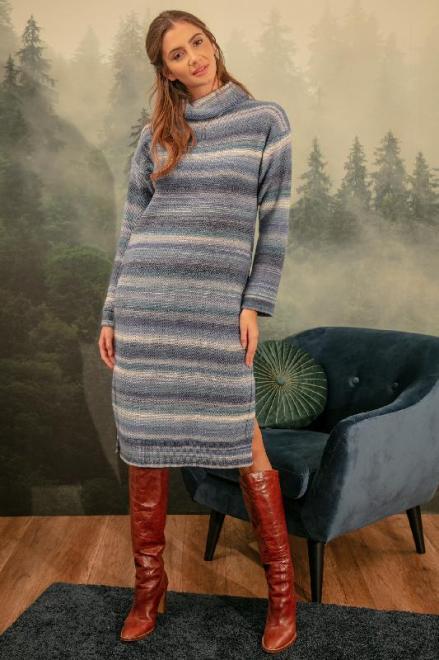FOBYA  F1152 Платье Голубой оптом