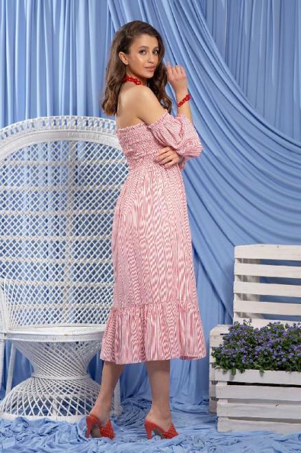 FOBYA  F1226 Платье Красный оптом