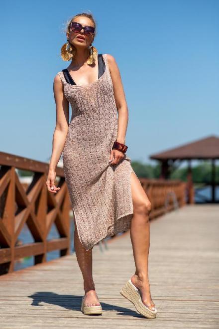 FOBYA  F1254 Платье Sandstone оптом