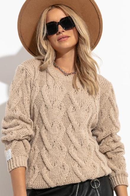 FOBYA  F1285 свитер ALMOND оптом
