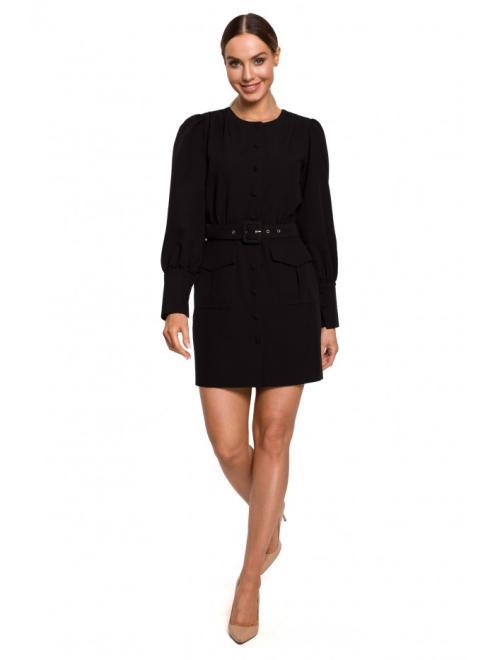 MOE  M605 платье с карманами czarna оптом