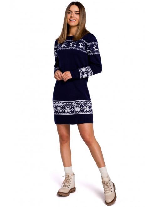 MOE  MXS02 Платье Темносиний оптом