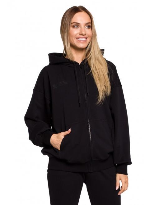 MOE  M614 блуза с капюшоном czarna оптом