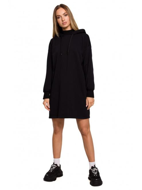 MOE  M615 платье с капюшоном czarna оптом