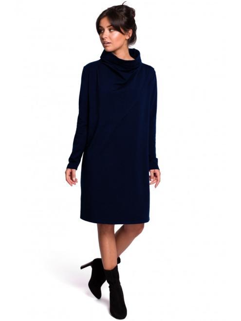 BE  B132 Платье Темносиний оптом