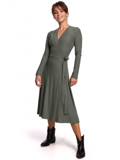 BE  B184 Платье Хаки оптом