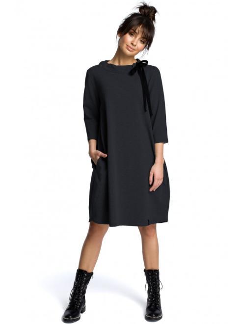 BE  B070 Платье Графит оптом