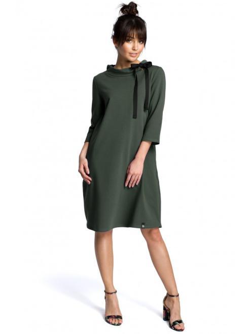 BE  B070 Платье militarna zieleń оптом