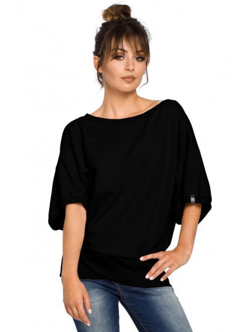 BE  B048 Блуза Черный оптом