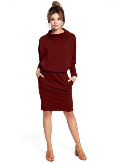 BE  B032 Платье Бордовый оптом
