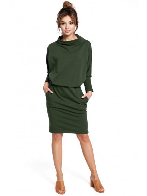 BE  B032 Платье militarna zieleń оптом