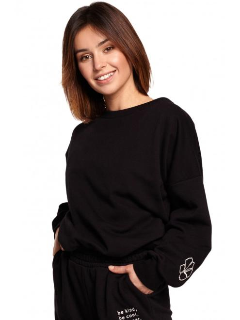 BE  B185 блуза czarna оптом