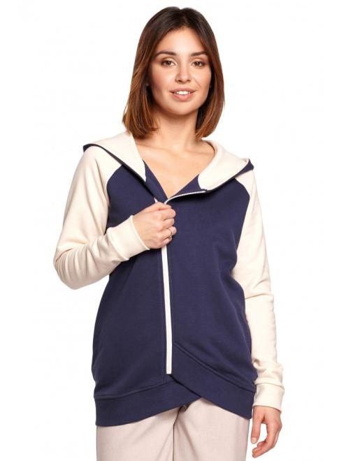 BE  B195 Bluza Z Połączenia Kolorów model 2 оптом