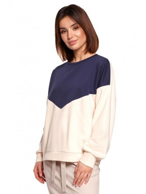 BE  B196 Bluza Z Połączenia Kolorów model 2 оптом